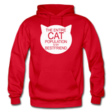 Cats - My Best Friends - White - Gildan Heavy Blend Adult Hoodie - red