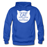 Cats - My Best Friends - White - Gildan Heavy Blend Adult Hoodie - royal blue