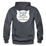 Cats - My Best Friends - White - Gildan Heavy Blend Adult Hoodie - charcoal gray