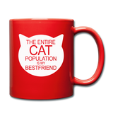 Cats - My Best Friends - White - Full Color Mug - red
