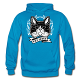Cat Lover - Gildan Heavy Blend Adult Hoodie - turquoise
