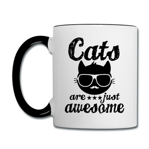 Cats Are Just Awesome - Black - Contrast Coffee Mug - white/black