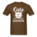 Cats Are Just Awesome - White - Unisex Classic T-Shirt - brown