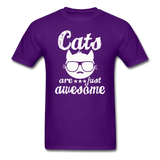 Cats Are Just Awesome - White - Unisex Classic T-Shirt - purple