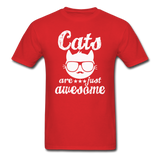 Cats Are Just Awesome - White - Unisex Classic T-Shirt - red