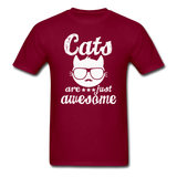 Cats Are Just Awesome - White - Unisex Classic T-Shirt - burgundy