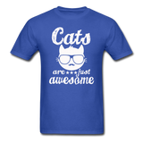 Cats Are Just Awesome - White - Unisex Classic T-Shirt - royal blue