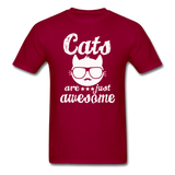 Cats Are Just Awesome - White - Unisex Classic T-Shirt - dark red