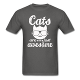 Cats Are Just Awesome - White - Unisex Classic T-Shirt - charcoal