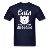 Cats Are Just Awesome - White - Unisex Classic T-Shirt - navy