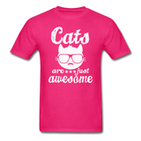 Cats Are Just Awesome - White - Unisex Classic T-Shirt - fuchsia