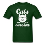 Cats Are Just Awesome - White - Unisex Classic T-Shirt - forest green