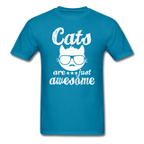 Cats Are Just Awesome - White - Unisex Classic T-Shirt - turquoise