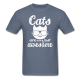 Cats Are Just Awesome - White - Unisex Classic T-Shirt - denim