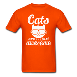Cats Are Just Awesome - White - Unisex Classic T-Shirt - orange