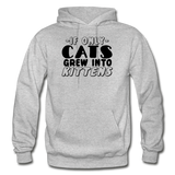 Cats Grew Into Kittens - Black - Gildan Heavy Blend Adult Hoodie - heather gray