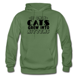 Cats Grew Into Kittens - Black - Gildan Heavy Blend Adult Hoodie - military green