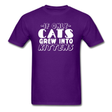 Cats Grew Into Kittens - White - Unisex Classic T-Shirt - purple