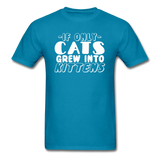Cats Grew Into Kittens - White - Unisex Classic T-Shirt - turquoise