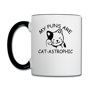 Cat Puns - Black - Contrast Coffee Mug - white/black