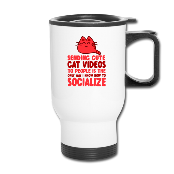 Cat Videos - Travel Mug - white