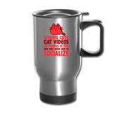 Cat Videos - Travel Mug - silver