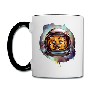 Cosmic Kitty - Contrast Coffee Mug - white/black