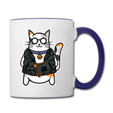 Cool Cat - Contrast Coffee Mug - white/cobalt blue