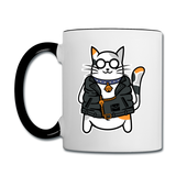 Cool Cat - Contrast Coffee Mug - white/black
