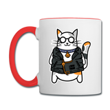 Cool Cat - Contrast Coffee Mug - white/red