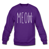 Meow - White - Crewneck Sweatshirt - purple