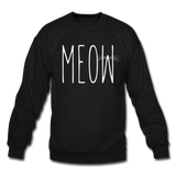 Meow - White - Crewneck Sweatshirt - black