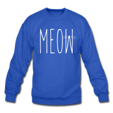 Meow - White - Crewneck Sweatshirt - royal blue
