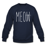 Meow - White - Crewneck Sweatshirt - navy