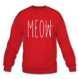 Meow - White - Crewneck Sweatshirt - red