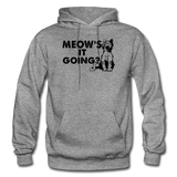 Meow's It Going - Black - Gildan Heavy Blend Adult Hoodie - graphite heather