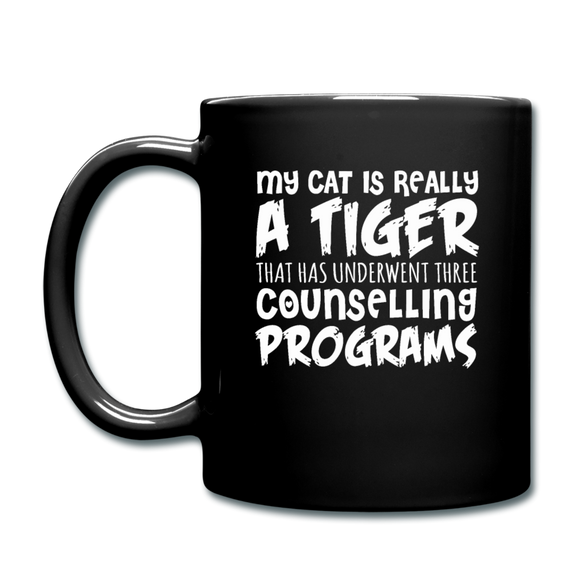 My Cat Is Really A Tiger - White - Full Color Mug - black