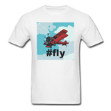 #fly - Red Biplane - Unisex Classic T-Shirt - white