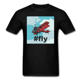 #fly - Red Biplane - Unisex Classic T-Shirt - black