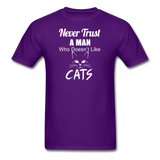 Never Trust A Man - White - Unisex Classic T-Shirt - purple