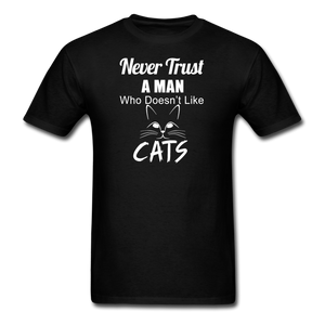 Never Trust A Man - White - Unisex Classic T-Shirt - black