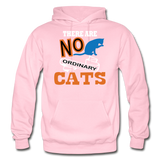 There Are No Ordinary Cats - Gildan Heavy Blend Adult Hoodie - light pink
