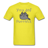 You Are Purrfect - Unisex Classic T-Shirt - yellow