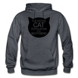 Cats - My Best Friends - Black - Gildan Heavy Blend Adult Hoodie - charcoal gray