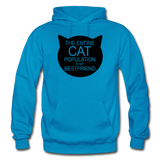 Cats - My Best Friends - Black - Gildan Heavy Blend Adult Hoodie - turquoise