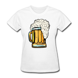 Foamy Beer Mug - Women's T-Shirt - white