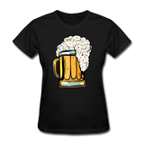 Foamy Beer Mug - Women's T-Shirt - black