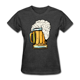 Foamy Beer Mug - Women's T-Shirt - heather black