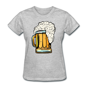 Foamy Beer Mug - Women's T-Shirt - heather gray