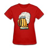 Foamy Beer Mug - Women's T-Shirt - red